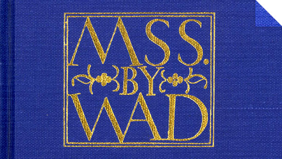 Type design on the cover of MSS by WAD